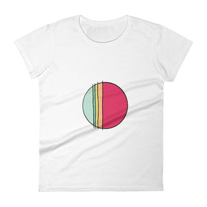 Blue-Green Red Circle / Colour Sketch / Women's Classic Short Sleeve T-Shirt / Sizes S - XL