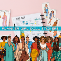 Planner Girl Doll Stickers