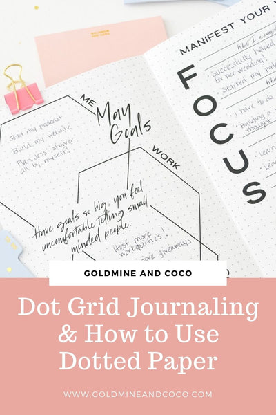 dot grid journaling and how to use dotted paper