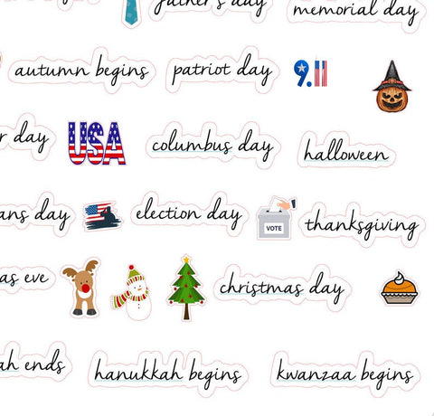 Holiday planner stickers Etsy