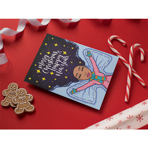 Peyton African American Holiday Greeting Card Set