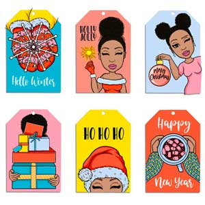 Holiday Peyton Gift Tag Set