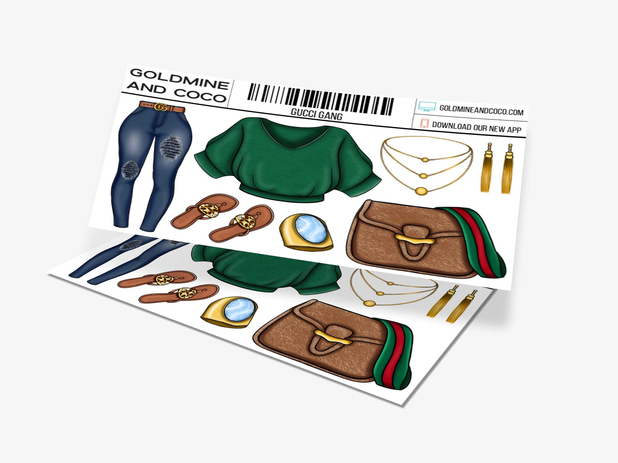 Gucci Gang Sticker Set