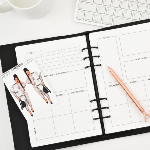 Work and Home Weekly Planner Inserts