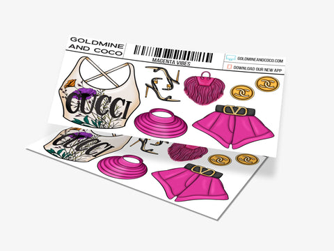 Magenta Vibes Sticker Set