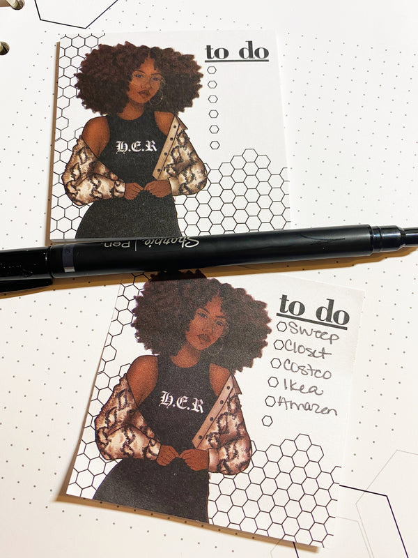 H. E. R. To Do Sticky Notes