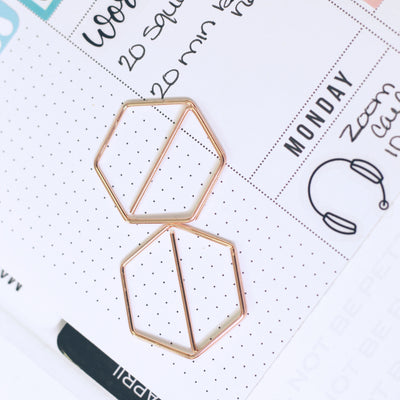 Hexagon Paper Clips