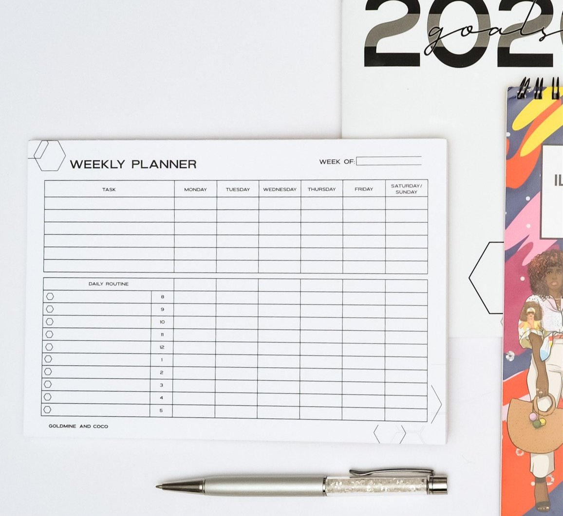 Weekly Pre-Planning Notepad