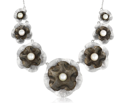 Sept Floral Sterling Silver Necklace