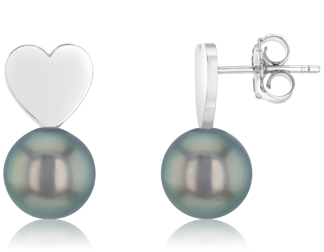 Amor Tahitian Pearl Stud Earrings