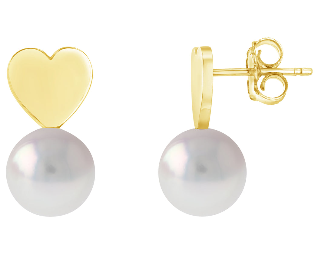Amor Akoya Pearl Stud Earrings