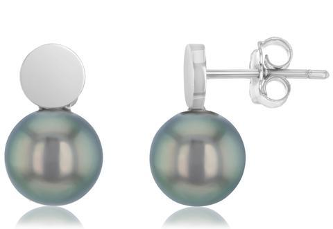 Femi Tahitian Pearl Stud Earrings