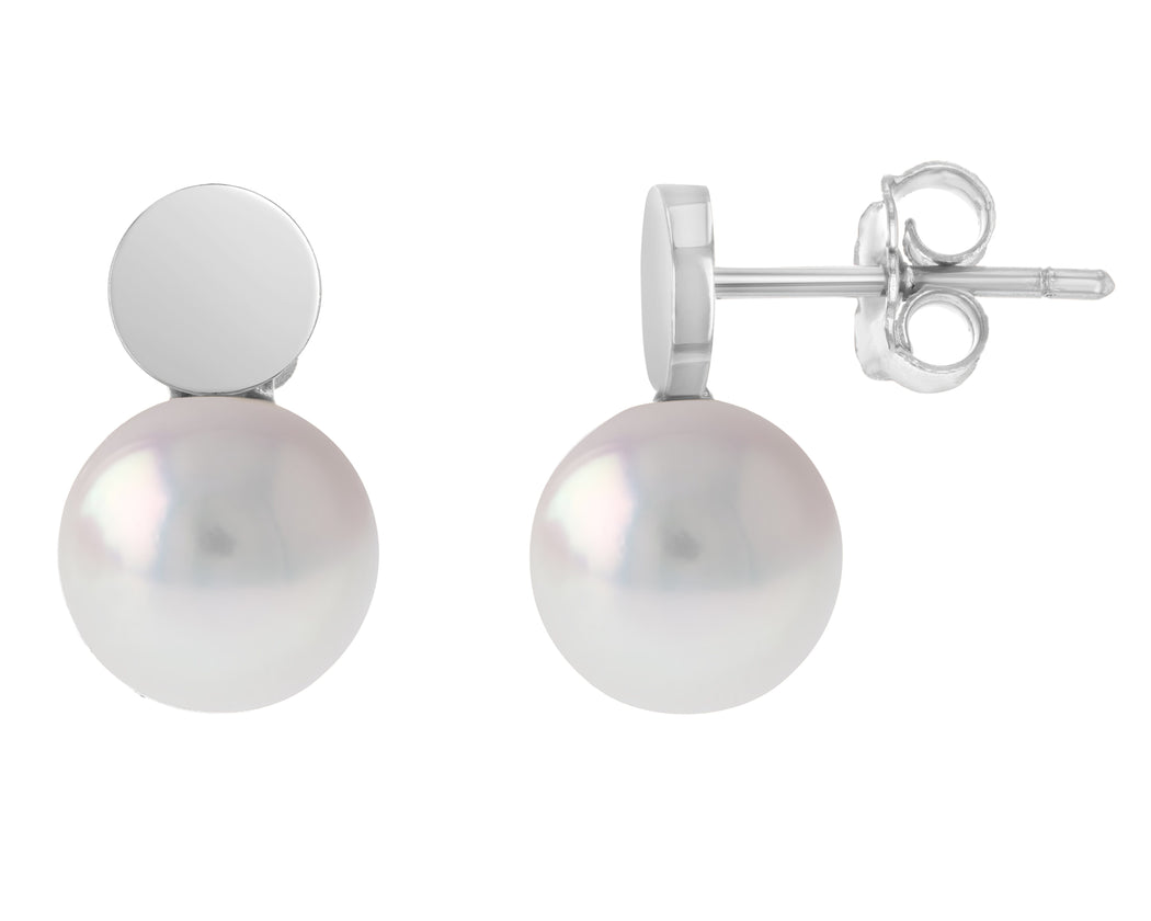 Femi Akoya Pearl Stud Earrings