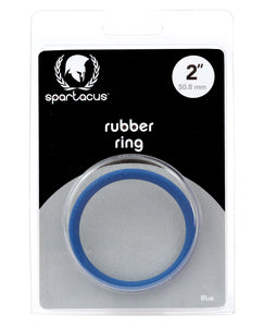 "Spartacus 2"" Rubber Cock Ring - Blue"