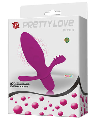 Pretty Love Fitch Anal Vibrator - Fuchsia