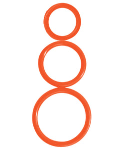 Curve Novelties Rooster Control Rings - Orange Set of 3