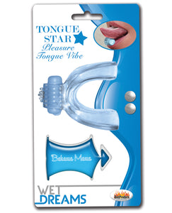 Wet Dreams Tongue Star Vibe - Blue w/10 ml Liquor Lube Pillow
