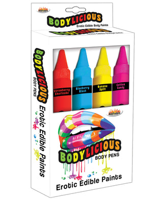 Bodylicious Edible Pens - Pack of 4