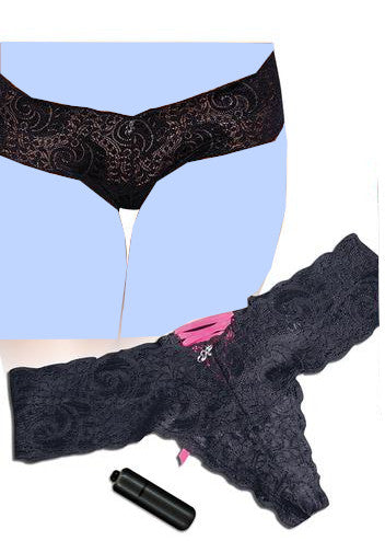 Hustler Vibrating Panties w/Bullet Black
