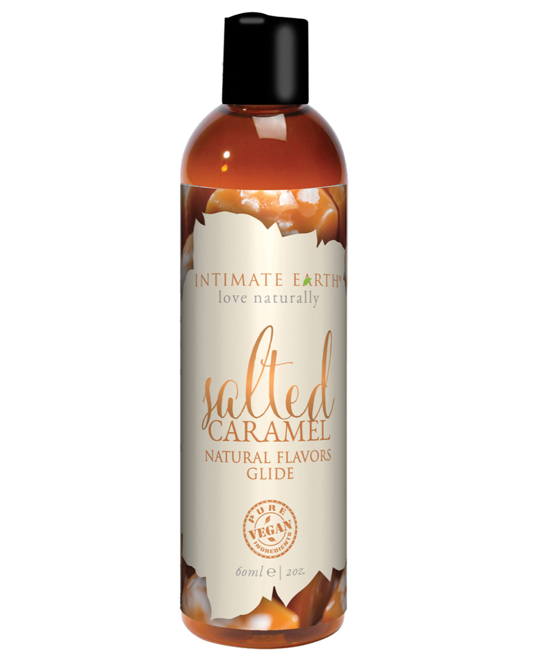 Intimate Earth Natural Flavors Glide - 60 ml Salted Caramel