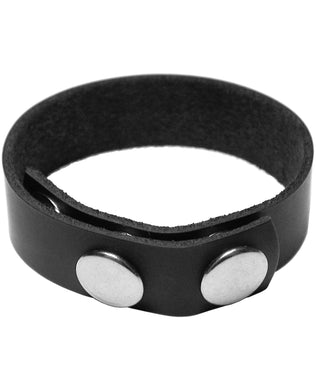 KinkLab Leather 3 Snap Cock Ring