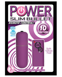 Power Slim Bullet Remote Control - Purple