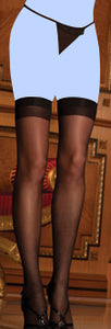 Rene Rofe Sheer Thigh High Black O/S