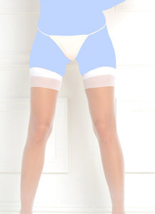 Rene Rofe Sheer Thigh High White O/S