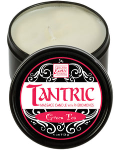 Tantric Soy Candle w/Pheromones - Green Tea