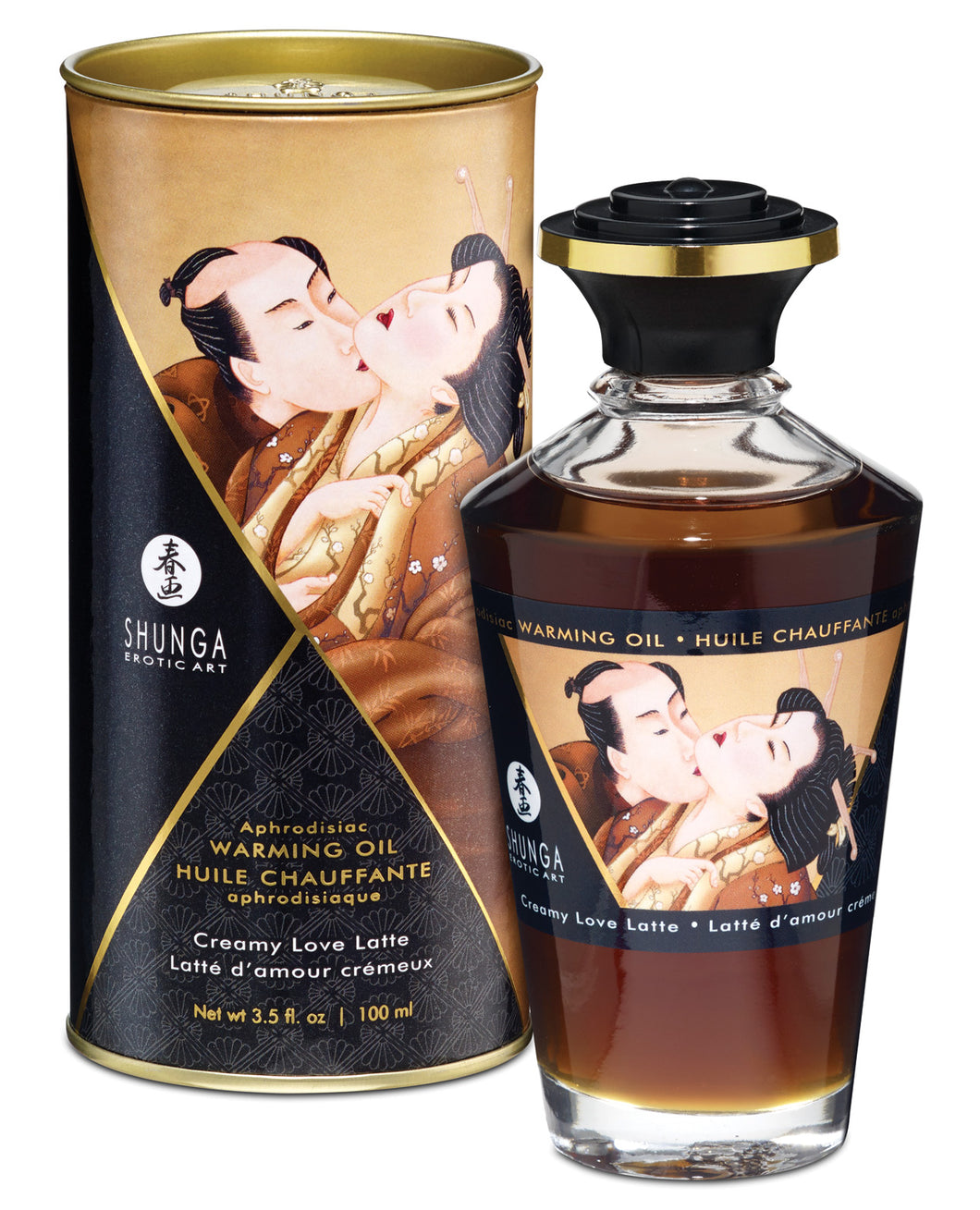 Shunga Warming Oil - 3.5 oz Creamy Love Latte