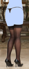 Sheer Thigh Highs w/Back Seam Black QN