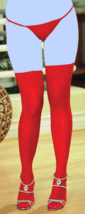 Sheer Thigh Highs w/Back Seam Red QN