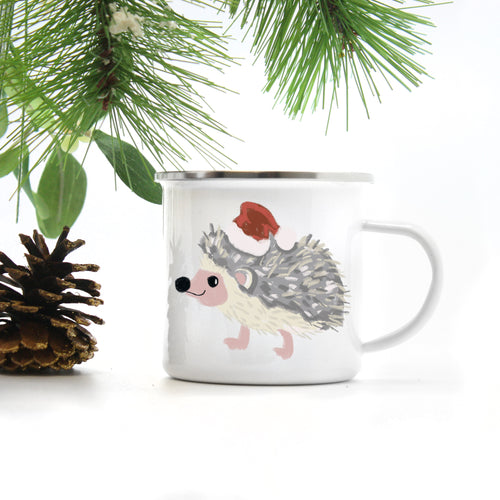 Hedgehog Camp Mug