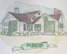 Custom Home Watercolor Painting