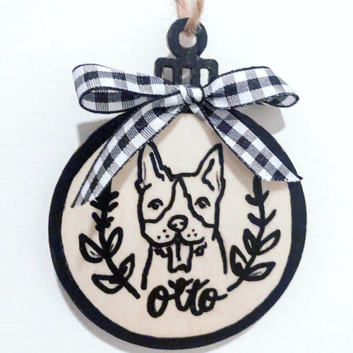 Farmhouse Portrait Ornament