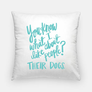 """You Know What I Like?"" Pillow"