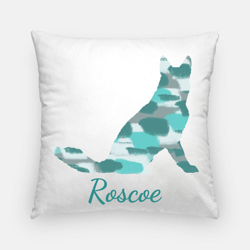 Silhouette Dog Pillow