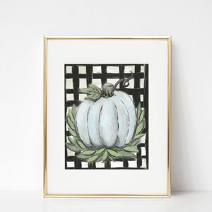 Buffalo Check Pumpkin, Printable