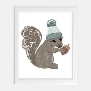 Cozy Squirrel Print