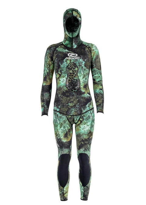 Aropec Camo 3mm 2 Piece Long John Spearfishing Suit