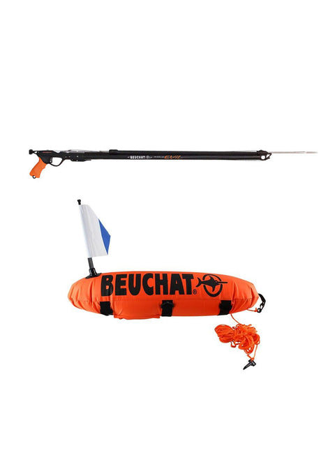 Beuchat Marlin Evil Speargun and 11L Torpedo Float Pack