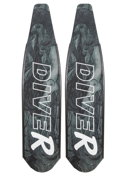 DiveR Spearfishing Blades BW Mermaid