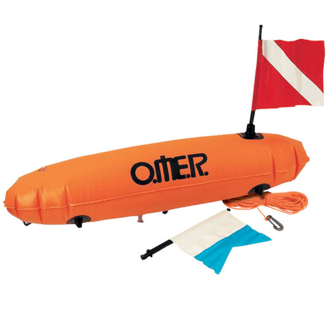 Omer Torpedo Float with Red and Alfa Flag