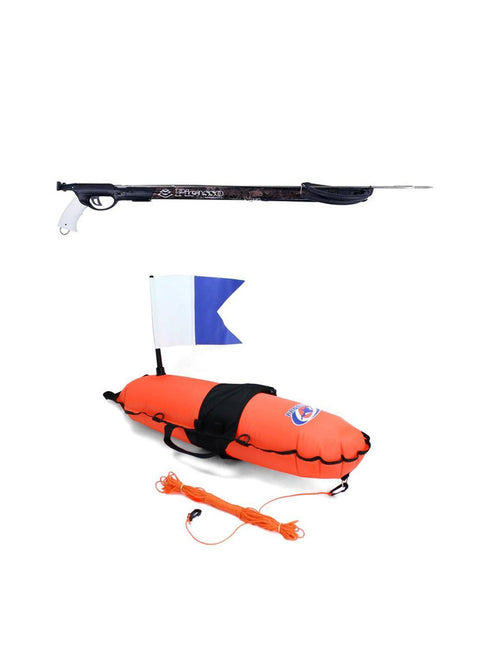 Picasso Cobra Rail Brown 14mm Gun + 18L Torpedo Inflatable Float