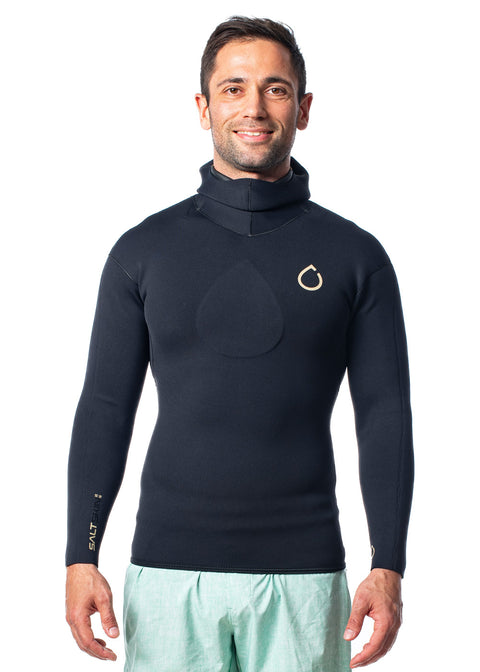 SALTSKIN Mens 2.5mm Long Sleeve Hooded Neoprene Top