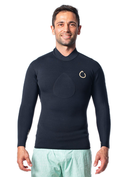 SALTSKIN Mens 2.0mm Long Sleeve Neoprene Top