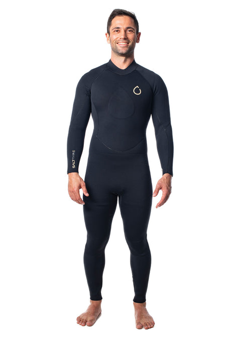 SALTSKIN Mens 3/2mm Back Zip Steamer Wetsuit