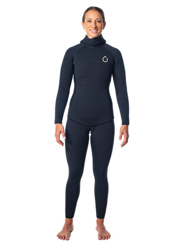 SALT Womens 3.5mm Hooded 2 Piece Wetsuit