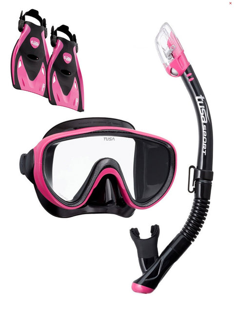 Tusa Serene Adult Travel Set - Black/Hot Pink