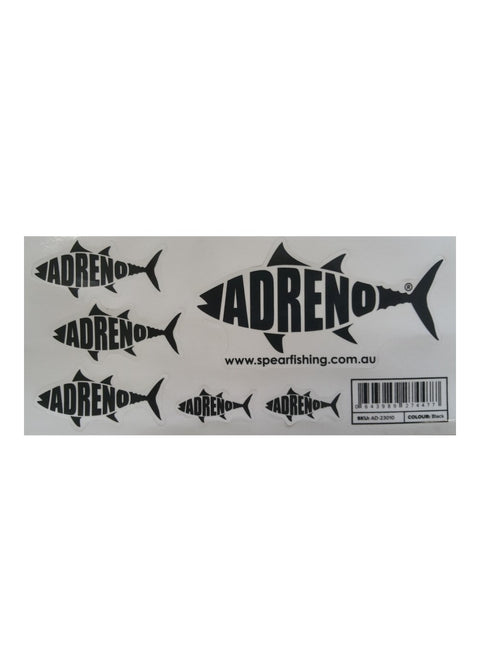 ADRENO SPEAR Sticker Sheet Small- Black